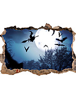 cheap -3D Halloween Wall Stickers Decorative Wall Stickers, PVC Home Decoration Wall Decal Wall Decoration / Removable