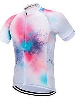 Недорогие -Vendull Муж. С короткими рукавами Велокофты Розовый Градиент Велоспорт Джерси Верхняя часть Дышащий Быстровысыхающий Анатомический дизайн Виды спорта 100% полиэстер / Эластичная / Горные велосипеды