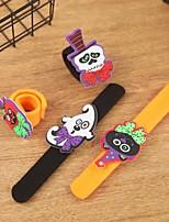 Недорогие -Хэллоуин мультфильма тыквы кольцо руки пощечину / хлопать браслет украшения для детей кольцо руки событие праздничные атрибуты