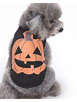 Недорогие -Собаки Жилет Одежда для собак Тыква Черный Полиэстер Костюм Назначение Зима Праздник Хэллоуин