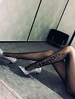 cheap -Women's Thin Stockings - Transparent / Sexy Lady / Lace 10D Black One-Size