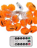 Недорогие -хэллоуин струнные огни 3 м 20led 3d тыква Джек-о-фонарь с питанием от 13 клавиш дистанционного управления милый жуткий Хэллоуин крытый украшения на открытом воздухе