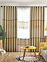 Недорогие -две панели европейский минималистский стиль льняная вышивка шторы гостиная спальня столовая детская комната шторы