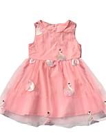 Недорогие -Дети Девочки Животное Платье Розовый