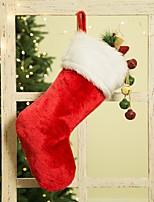 Недорогие -рождественский носок подарочный пакет украшен рождественские длинные плюшевые детские конфеты сумка