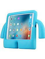 Недорогие -Кейс для Назначение Apple iPad Air / iPad 4/3/2 / iPad Air 2 Защита от удара / со стендом Кейс на заднюю панель Однотонный ПК / силикагель