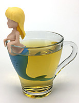 Недорогие -русалка чай для заварки силиконовые tes мешок многоразовые ситечко фильтр чайник случайный стиль