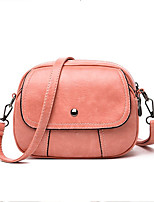 Недорогие -Жен. Молнии PU Сумочка через плечо Сплошной цвет Черный / Коричневый / Розовый