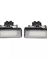 Недорогие -2 шт. Светодиодные огни номерного знака 6000 К белая пара для Mercedes C-KL W203 E-KL W211 SLK CLS 4251061500336