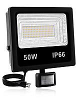 Недорогие -1шт 50 Вт светодиодный прожектор водонепроницаемый / инфракрасный датчик / новый дизайн теплый белый / белый 85-265 В наружное освещение 100 светодиодные шарики