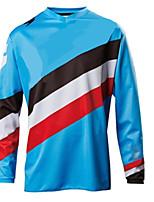 Недорогие -Муж. Длинный рукав Велокофты Сноуборд Джерси Синий геометрический Велоспорт Джерси Одежда для мотоциклов Верхняя часть Сохраняет тепло С защитой от ветра Дышащий Виды спорта Зима 100% полиэстер