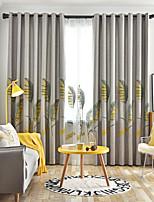 Недорогие -две панели европейского минимализма стиль конопли хлопок листья вышитые шторы гостиная спальня столовая детская комната шторы