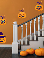 cheap -Halloween Party Halloween Decor Horror Ghost Halloween Pumpkin Wall Stickers Decorative Wall Stickers, PVC Home Decoration Wall Decal Wall Decoration / Removable