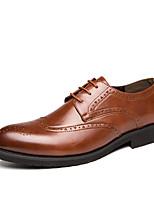 Недорогие -Муж. Официальная обувь Полиуретан Весна / Осень На каждый день / Английский Туфли на шнуровке Черный / Коричневый