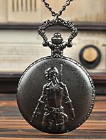 Недорогие -Муж. Карманные часы Кварцевый Старинный Творчество Новый дизайн Cool Аналого-цифровые Винтаж - Черный Серебряный