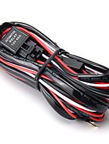Недорогие -1 шт. 2.5 м светодиодный рабочий свет бар комплект жгута проводов с предохранителем 40а реле включения-выключения универсальный для джипа бездорожья