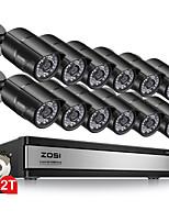 Недорогие -Zosi 1080p 2-мегапиксельная 16-канальная система видеонаблюдения видеорегистратор DVR Kit