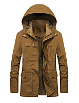 cheap -Men's Hiking Jacket Hiking Fleece Jacket Winter Outdoor Thermal / Warm Windproof Fleece Lining Breathable Winter Jacket Top Cotton Camping / Hiking Hunting Ski / Snowboard Dark Brown / Black / Army