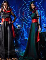 Недорогие -Вампиры Товары для Хэллоуина Взрослые Жен. Хэллоуин Хэллоуин Фестиваль / праздник Вязанная Черный Жен. Карнавальные костюмы / Платье / Пояс / лента