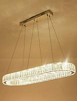 Недорогие -современная хрустальная люстра для гостиной овальная круглая роскошь кольцо из нержавеющей стали крытый дом люстры светильники хрустальные светодиодные подвесные светильники потолочный светильник