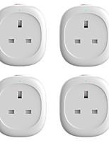 Недорогие -Интеллектуальный штекер для контроля энергопотребления в 4 комплектах для гостиной / кабинета / управления приложениями для спальни / функцией хронометража / интеллектуальный Wi-Fi 110-150 В