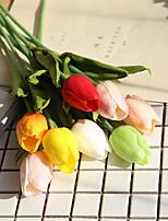 Недорогие -Искусственные Цветы 5 Филиал Классический европейский Свадебные цветы Тюльпаны Вечные цветы Букеты на стол