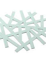 Недорогие -На каждый день ПВХ куб Салфетки-подстилки Однотонный Экологичные Настольные украшения
