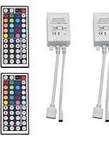 Недорогие -2pcs 12 V / 5 V / Работает от USB WiFi / Дистанционно управляемый / Газонокосилка пластик Контроллер для RGB LED Strip Light / для светодиодной полосы света