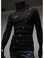Недорогие -Муж. Polo Классический / Элегантный стиль Однотонный Черный