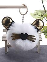 Недорогие -Брелок Кошка корейский Милая Мода Модные кольца Бижутерия Черный / Светло-Розовый / Белый Назначение Повседневные Свидание