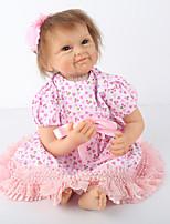 Недорогие -NPK DOLL Куклы реборн Куклы Мальчики Девочки 22 дюймовый Безопасность Подарок Очаровательный Детские Универсальные Игрушки Подарок