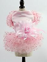 Недорогие -Собаки Коты Животные Платья Одежда для собак Тонкая прозрачная ткань Белый Розовый Полиэстер Костюм Назначение Лето Мужской Свадьба
