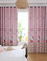 Недорогие -Modern Солнцезащитные 2 шторы Занавес Гостиная   Curtains