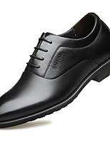 Недорогие -Муж. Кожаные ботинки Кожа Весна / Наступила зима Английский Туфли на шнуровке Высота возрастающей Черный / Темно-русый