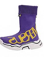 Недорогие -Мальчики / Девочки Удобная обувь Flyknit Спортивная обувь Маленькие дети (4-7 лет) Беговая обувь Черный / Лиловый Осень