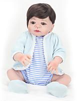 Недорогие -NPK DOLL Куклы реборн Куклы Мальчики Девочки 22 дюймовый Силикон - Безопасность Подарок Очаровательный Детские Универсальные / Мальчики Игрушки Подарок