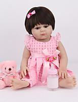Недорогие -NPK DOLL Куклы реборн Куклы Девочки 22 дюймовый Силикон - Безопасность Подарок Очаровательный Детские Универсальные / Девочки Игрушки Подарок