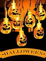 Недорогие -2.5м Хэллоуин тыква светодиодные струнные огни 20 светодиодов желтый декоративный 3 в 1 комплект