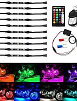 Недорогие -Беспроводной rgb ик / рф многоцветный светодиодные полосы света пульт дистанционного управления неоновая лампа атмосферы