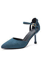 Недорогие -Жен. Обувь на каблуках На шпильке Заостренный носок Полиуретан Минимализм Осень Черный / Синий