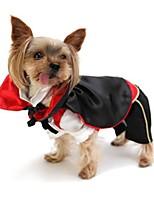 Недорогие -Собаки Инвентарь Одежда для собак Контрастных цветов Черный Полиэстер Костюм Назначение Осень Праздник Хэллоуин