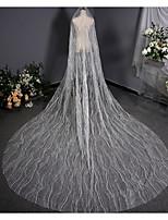 Недорогие -Один слой Винтаж Свадебные вуали Соборная фата с Отделка 137,8 в (350cm) Тюль