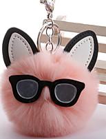 Недорогие -Брелок Кошка корейский Милая Мода Модные кольца Бижутерия Черный / Белый / Светло-Зеленый Назначение Повседневные Свидание