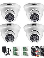 Недорогие -Zosi 4 шт. / лот 720 P HD-TV 1-мегапиксельная купольная камера видеонаблюдения домашней системы безопасности водонепроницаемый для 720 P HD-DVR систем