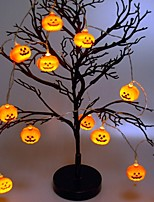 Недорогие -1.5 м хэллоуин тыква струнные огни с 10 светодиодные батарейки хэллоуин украшения в помещении на открытом воздухе для партии свадьба патио теплый белый 1 компл.