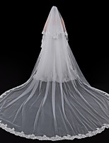 Недорогие -Один слой Европейский стиль Свадебные вуали Фата для венчания с Отделка 196,85 в (500 см) Кружева / Тюль