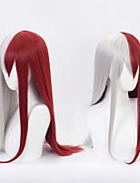 Недорогие -Парики из искусственных волос Маскарадные парики Прямой Стиль С чёлкой Без шапочки-основы Парик Темно-красный Искусственные волосы 26inch Жен. Косплей Творчество Жаропрочная Красный Парик Длинные