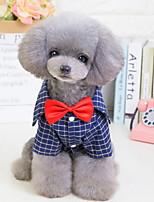 Недорогие -Собаки Коты Животные Костюм Одежда для собак Английский Синий Полиэстер Костюм Назначение Лето Английский