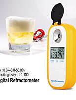 Недорогие -dr402 цифровой рефрактометр для сусла ареометр brix 0-50% измеритель концентрации рефрактометр электронный тестер алкоголя вина
