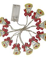Недорогие -1.5м гирлянды 10 светодиодов, светодиодные, теплые, белые, декоративные, на батарейках, 1 шт.